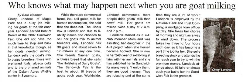 An article from the Sandwich Times summer 2008.